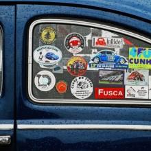 Klasik Araba Sticker