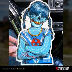 Zombie Girl Sticker