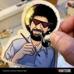 Ressam Bob Sticker