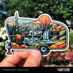 Colorful Camper Sticker