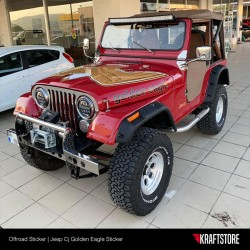 Jeep Cj - Golden Eagle Sticker Seti