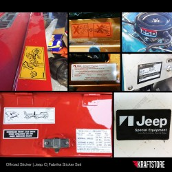 Jeep Cj - Fabrika Sticker Seti