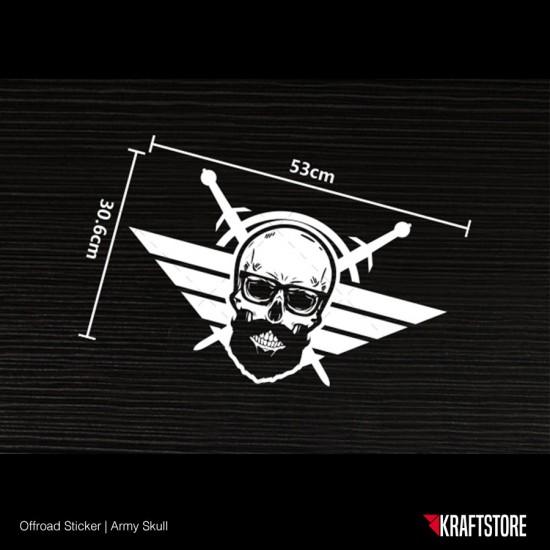 Army Skull Sticker