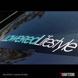 Lowered Life Style Sticker