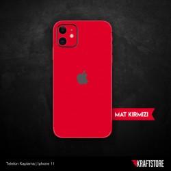 iPhone 11 - Mat Kırmızı Kaplama