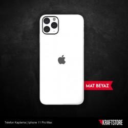 iPhone 11 Pro Max - Mat Beyaz Kaplama