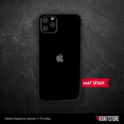 iPhone 11 Pro Max - Mat Siyah Kaplama