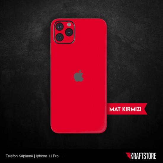 iPhone 11 Pro - Mat Kırmızı Kaplama